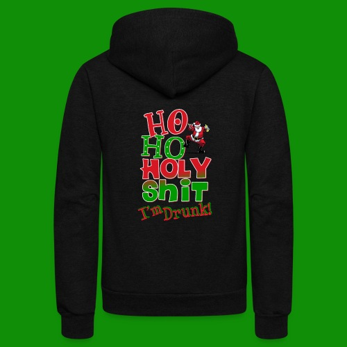 Ho Ho Holy Drunk - Unisex Fleece Zip Hoodie