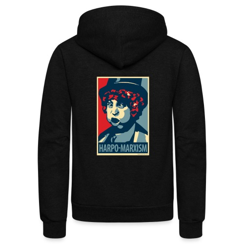Harpo Marxism: parody of Obama poster - Unisex Fleece Zip Hoodie