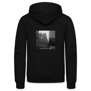 I want to be with you. - Unisex Fleece Zip Hoodie