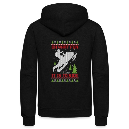 Ugly Christmas Snowmobile - Unisex Fleece Zip Hoodie