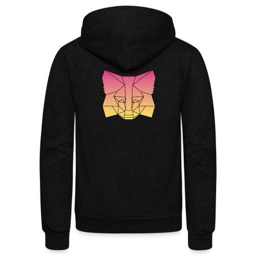 Sunset Fox - Unisex Fleece Zip Hoodie