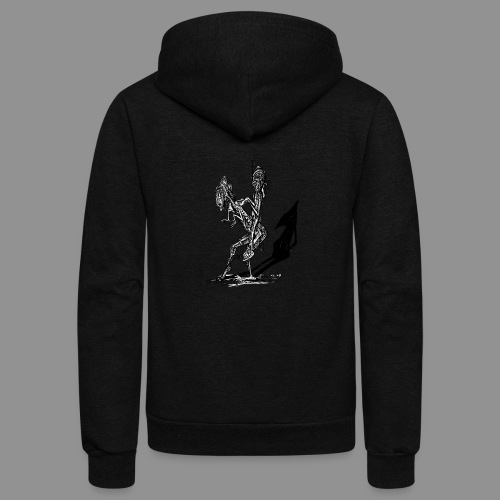 Wolfman Originals Black & White 18 - Unisex Fleece Zip Hoodie