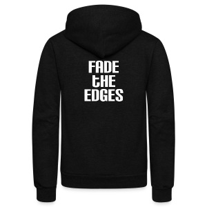 Fade the Edges White - Unisex Fleece Zip Hoodie