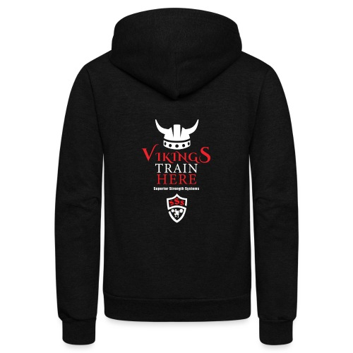 Vikings Train Here - Unisex Fleece Zip Hoodie