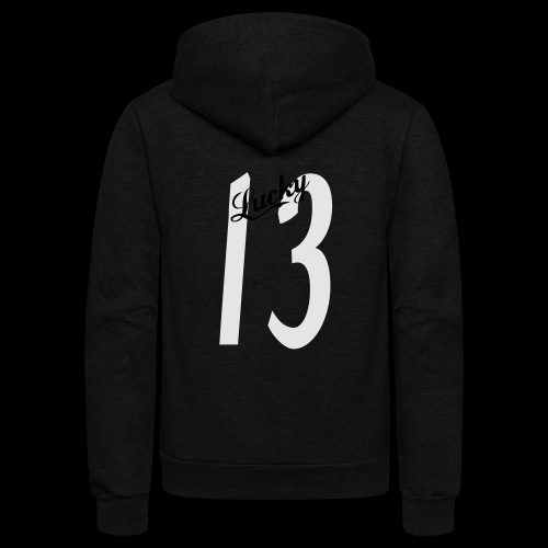 Lucky Thirteen - Unisex Fleece Zip Hoodie