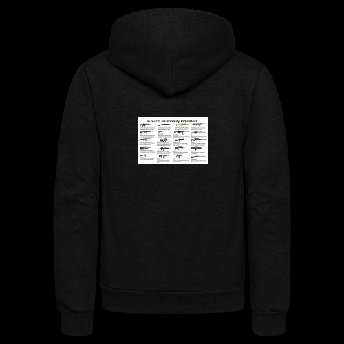Pick one gun then read the personality discription - Unisex Fleece Zip Hoodie