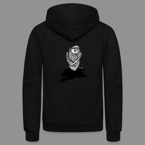 Wolfman Originals Black & White 16 - Unisex Fleece Zip Hoodie