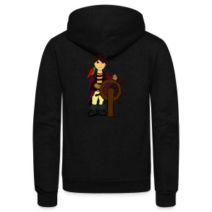 Alex the Great - Pirate - Unisex Fleece Zip Hoodie by American Apparel