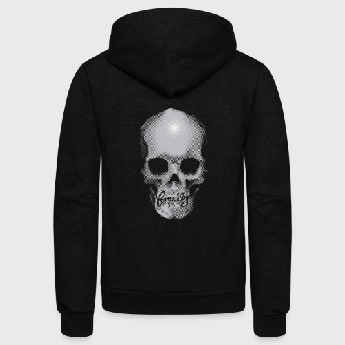 Finally Skull - Unisex Fleece Zip Hoodie