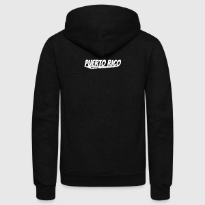 Puerto Rico Retro Comic Book Style Logo - Unisex Fleece Zip Hoodie by American Apparel