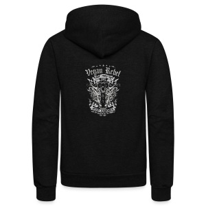 Vegan Rebel - Unisex Fleece Zip Hoodie