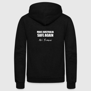 MAKE AUSTRALIA SAFE AGAIN - Unisex Fleece Zip Hoodie by American Apparel