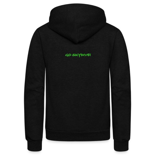 Go Skydive T-shirt/Book Skydive - Unisex Fleece Zip Hoodie