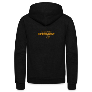 The Independent Life Gear - Unisex Fleece Zip Hoodie by American Apparel