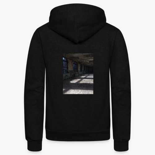 Abandon Prison Broken window room - Unisex Fleece Zip Hoodie