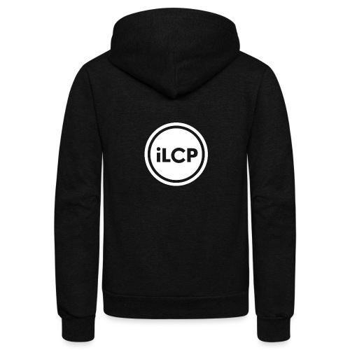 iLCP logo circle white KO - Unisex Fleece Zip Hoodie
