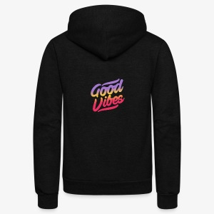 good vibes - Unisex Fleece Zip Hoodie by American Apparel