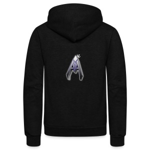 Avoh Black and white King edition - Unisex Fleece Zip Hoodie by American Apparel