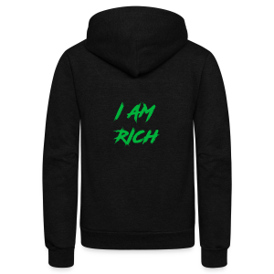 I AM RICH (WASTE YOUR MONEY) - Unisex Fleece Zip Hoodie