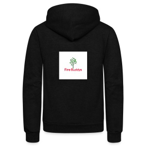 Fire Buddys Website Logo White Tee-shirt eco - Unisex Fleece Zip Hoodie by American Apparel