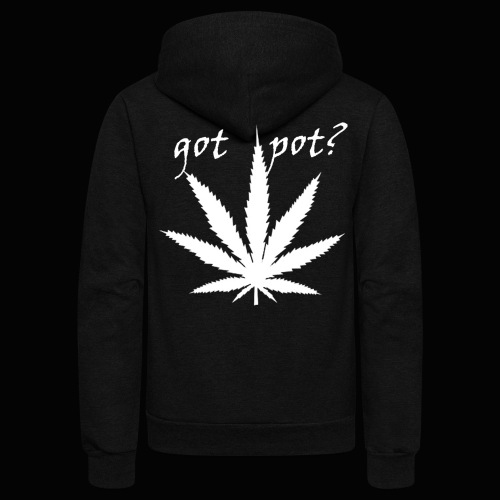 got pot? - Unisex Fleece Zip Hoodie