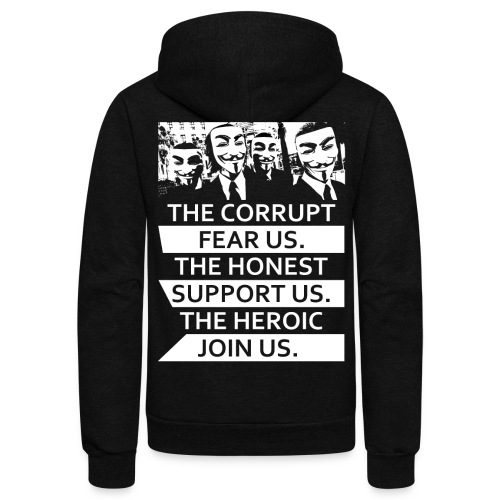 Anonymous 5 - Unisex Fleece Zip Hoodie