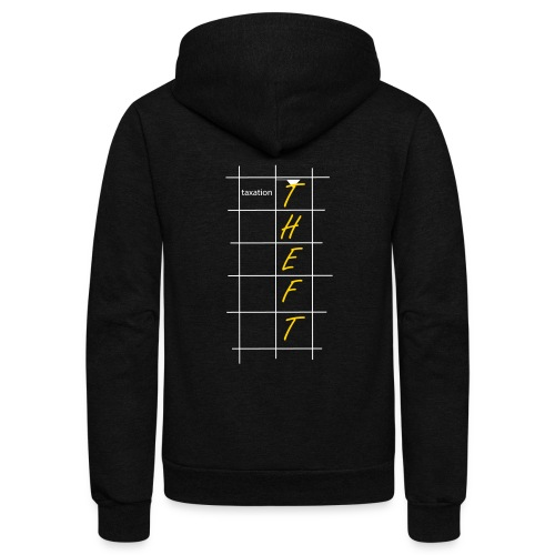 Taxation is Theft Crossword - Unisex Fleece Zip Hoodie