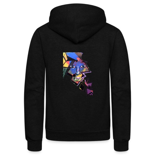 Face Me Artwork - Unisex Fleece Zip Hoodie