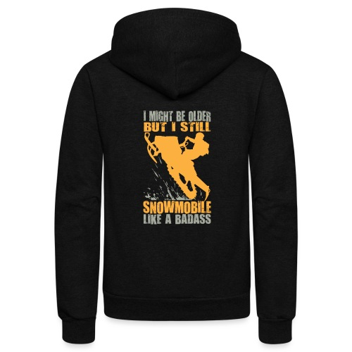 Snowmobile Old Badass - Unisex Fleece Zip Hoodie
