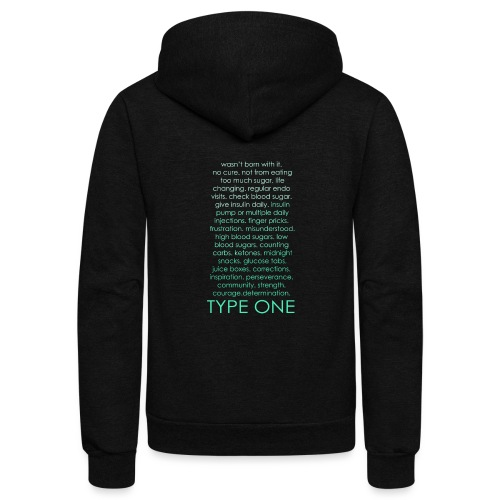 The Inspire Collection - Type One - Green - Unisex Fleece Zip Hoodie