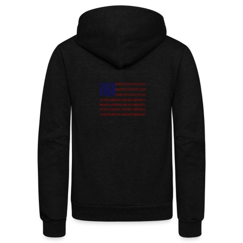 no trump no kkk USA flag - Unisex Fleece Zip Hoodie