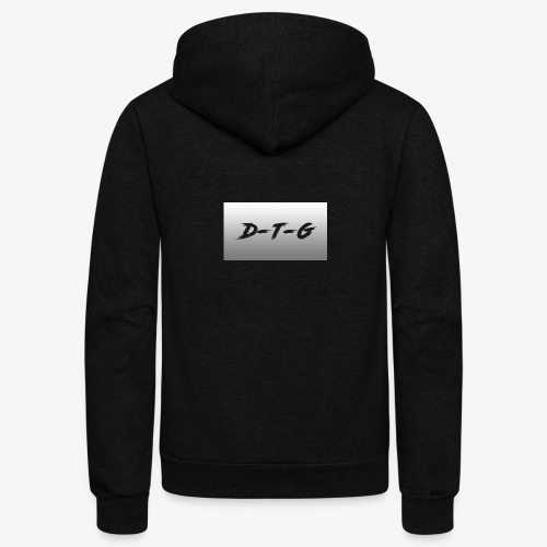 D-T-G White Design - Unisex Fleece Zip Hoodie