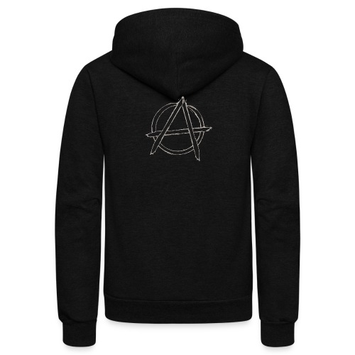 Anarchy in black silver - Unisex Fleece Zip Hoodie