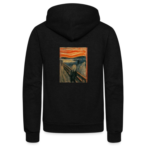 The Scream (Edvard Munch) - Unisex Fleece Zip Hoodie