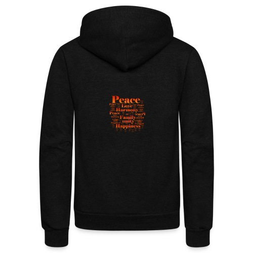 PEACE LOVE HARMONY - Unisex Fleece Zip Hoodie