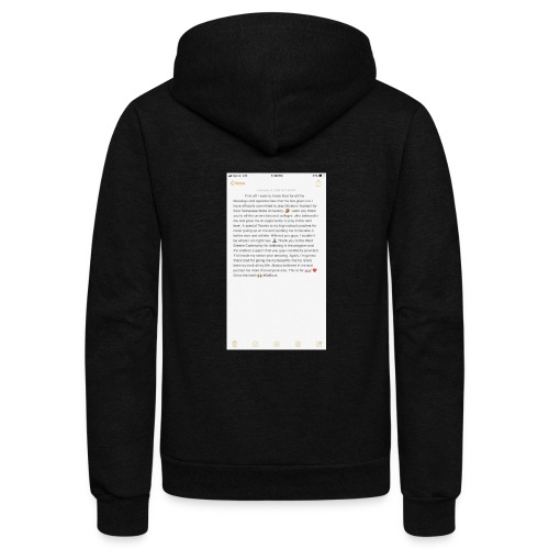Text from a Football Commit - Unisex Fleece Zip Hoodie