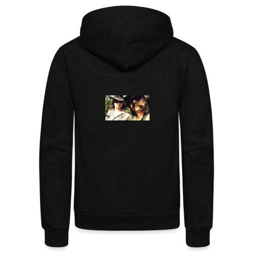 Jaw Thrust Cover Art - Unisex Fleece Zip Hoodie