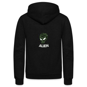 Military Alien - Unisex Fleece Zip Hoodie
