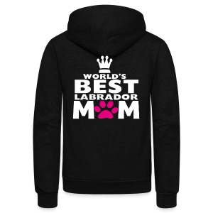 world best mom - Unisex Fleece Zip Hoodie