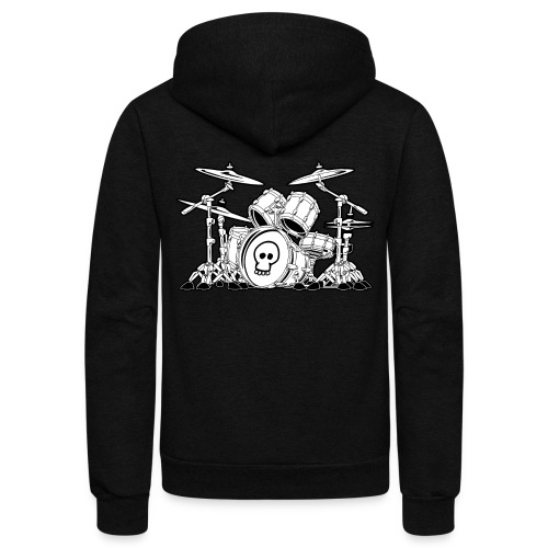 Drum Set Cartoon - Unisex Fleece Zip Hoodie