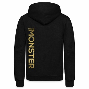 Trend Monster Vertical Jacket LOGO Gold - Unisex Fleece Zip Hoodie