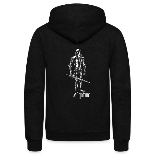 Gothic Knight Men's Standard Black T-shirt - Unisex Fleece Zip Hoodie