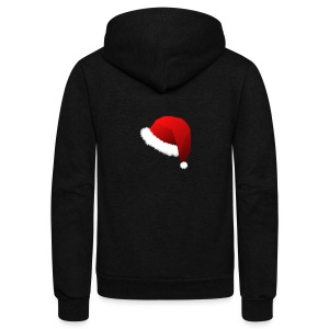 Carmaa Santa Hat Christmas Apparel - Unisex Fleece Zip Hoodie