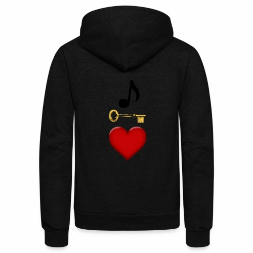 Music is Key to My Heart - Unisex Fleece Zip Hoodie