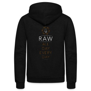 For the RAW Shooter - Unisex Fleece Zip Hoodie by American Apparel