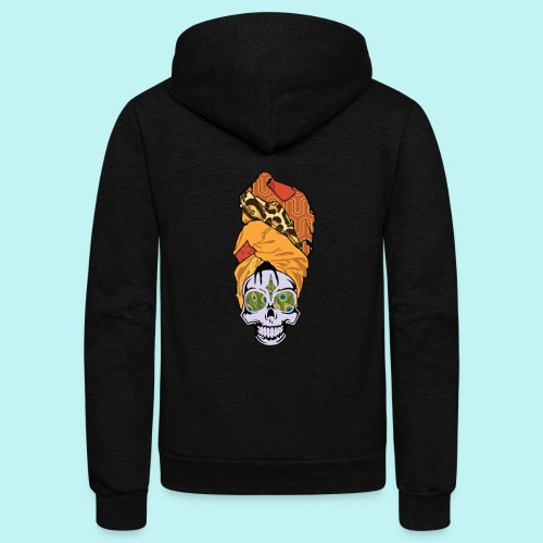 ERYKAH BADU SKULLY - Unisex Fleece Zip Hoodie