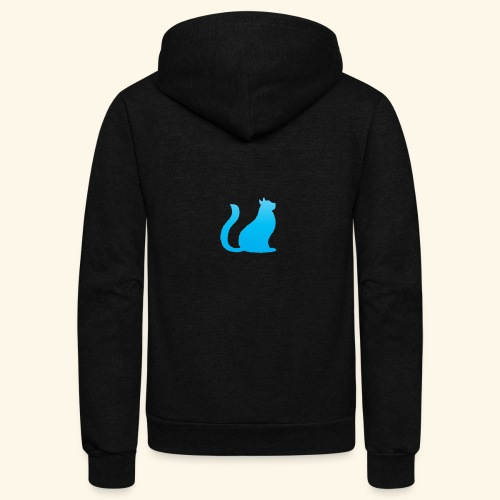 Bleu cat - Unisex Fleece Zip Hoodie