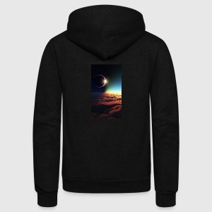 Space - Unisex Fleece Zip Hoodie by American Apparel