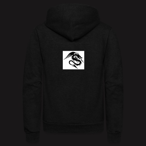 Dragon with stealth - Unisex Fleece Zip Hoodie