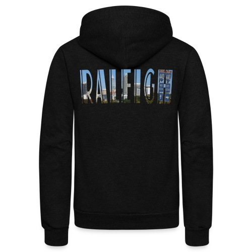 Raleigh Skyline Fall - Unisex Fleece Zip Hoodie